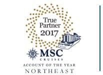 MSC Cruises - 2017 Northeast Account of the Year