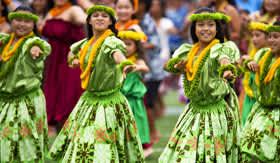 Hula dancing in Hawaii