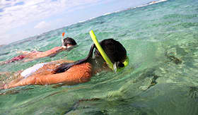 Norwegian Cruise Line - Couple Snorkeling in the Bahamas