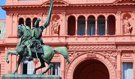 Norwegian Cruise Line Gen. Belgrano Monument in Buenos Aires, Argentina