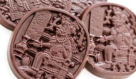 Norwegian Cruise Line gourmet maya glyphs in dark chocolate