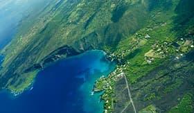 Norwegian Cruise Line Kealakekua Bay Big Island aerial shot Hawaii