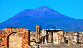 Norwegian Cruise Line Mount Vesuvius and Ruins of Pompeii in Italy