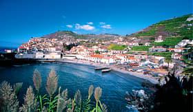 Norwegian Cruise Line Portugal Madeira coast line of Camara de Lobos