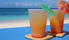 Norwegian Cruise Line rum punch on the beach