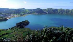 Norwegian Cruise Line Sete Cidades lagoon, near Ponta Delgada, S. Miguel Island