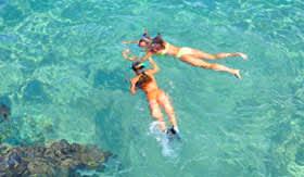 Snorkeling in Clear Water in Aruba