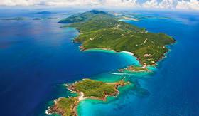 Norwegian Cruise Line St Thomas US Virgin Islands aerial