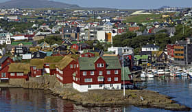Norwegian Cruise Line Thorshavn is the capitol of the Faroe Islands