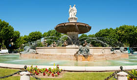 Nowegian Cuise Line fountain in Aix-en Provence France
