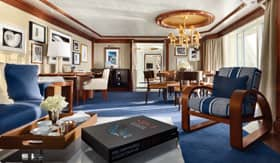Ralph Lauren-adorned Owner's Suite on Oceania Cruises Riviera