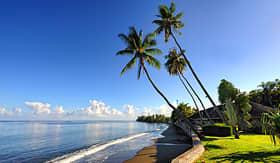 Oceania Cruises black sand beach pirae Papeete Tahiti Island French Polynesia