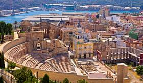 Oceania Cruises Cartagena looking over the Roman Amphitheater Spain