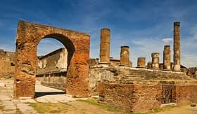 Oceania Cruises famous antique site of Pompeii near Naples in Italy