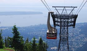 Oceania Cruises gondola ride to Grouse Mountain top north Vancouver Canada