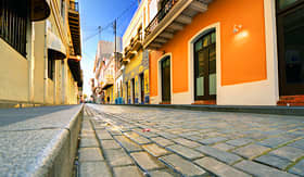 Oceania Cruises streets of the Old City of San Juan, Puerto Rico