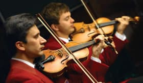 Violinists aboard Oceania Cruises