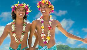 Paul  Gauguin men performing Tahitian dance