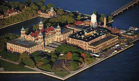 Princess Cruises aerial view of Ellis Island New York