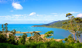 Princess Cruises Airlie Beach landscape view overlooking marina