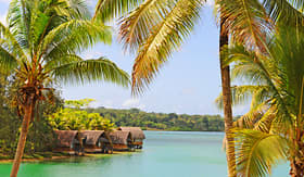 Princess Cruises bay on Efate Island Vanuatu