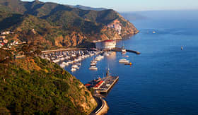 Princess Cruises coastal view of Catalina Island