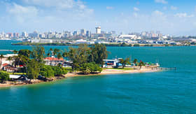 Princess Cruises landscape view of city of San Juan Puerto Rico