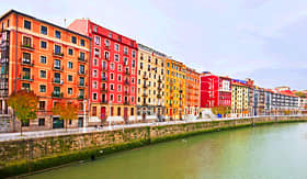 Princess Cruises nice view on the famous city of Bilbao Spain