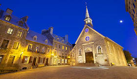 Princess Cruises Notre Dame Des Vict Oires at Place Royale in Quebec City Canada