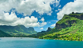 Princess Cruises paradise view of Moorea Islands Cooks Bay French Polynesia