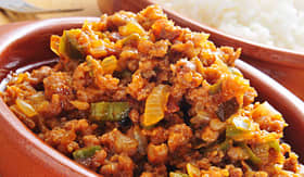 Princess Cruises Picadillo a traditional dish in many Latin American countries served with rice