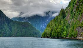 Princess Cruises the coastal inlets of Misty Fjords National Monument Alaska