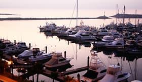 Princess Cruises twilight at Ensenada Harbor