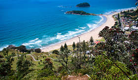 Princess Cruises view from Maunganui mountain Tauranga New Zealand