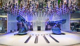 Royal Caribbean's Bionic Bar (Robot Bar) on Spectrum of the Seas