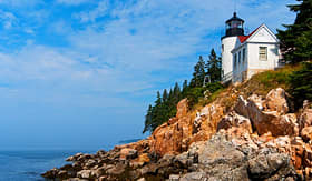 Regent Seven Seas Cruises Bass Harbor lighthouse is located in northern Maines Acadia National Park