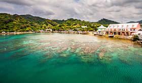 Regent Seven Seas Cruises coast of Roatan, Honduras