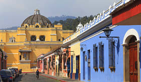 Regent Seven Seas Cruises colonial buildings in Antigua, Guatemala