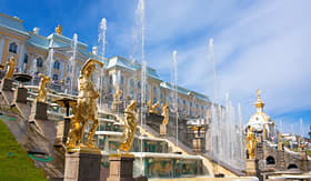 Regent Seven Seas Cruises grand cascade fountains in Peterhof Palace Russia