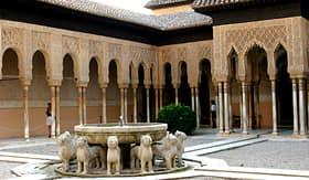 Regent Seven Seas Cruises lions courtyard in Alhambra, Granada