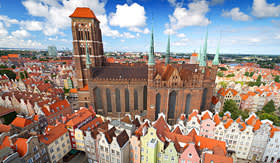 Regent Seven Seas Cruises St Marys Cathedral in old town of Gdansk Poland