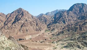 Hajar Mountains of Dubai, UAE