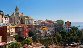 Regent Seven Seas Cruises viewed on Cerro Concepcion Valparaiso historic world heritage of UNESCO