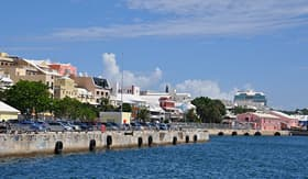 Regent Seven Seas Cruises waterfront downtown Hamilton in Bermuda