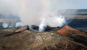 Royal Caribbean aerial view of Kilauea Volcano Hawaii