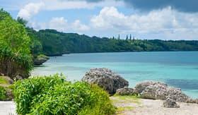 Royal Caribbean beach near Noumea in New Caledonia archipelago