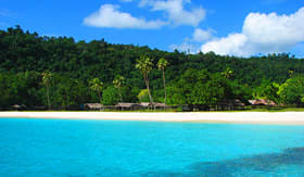Royal Caribbean beautiful, famous Champagne Beach, Vanuatu, South Pacific