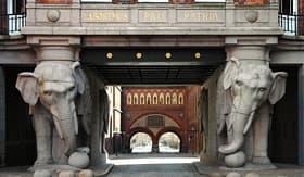 Royal Caribbean elephant tower on the Carlsberg Brewery Copenhagen Denmark