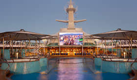 Royal Caribbean International entertainment Outdoor Movie Nights