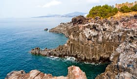 Royal Caribbean Jungmun Daepo Haean Jusangjeollidae at Jeju Island Korea